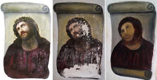 班牙幾年前也發生了把耶穌修成福祿猴的悲劇。
