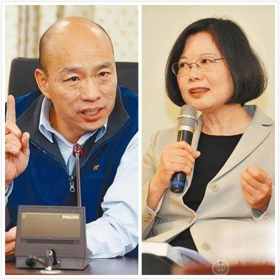 他做的百份街头民调反映4个现象 逾9成显示韩国瑜赢过蔡英